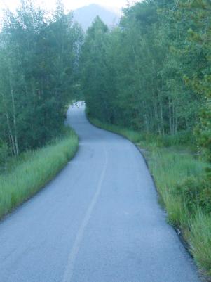The path around the lake. July 2015